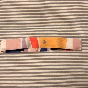 Lululemon headband multi color *small stain*